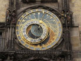 The clock face— an astrolabe controlled by a clock.