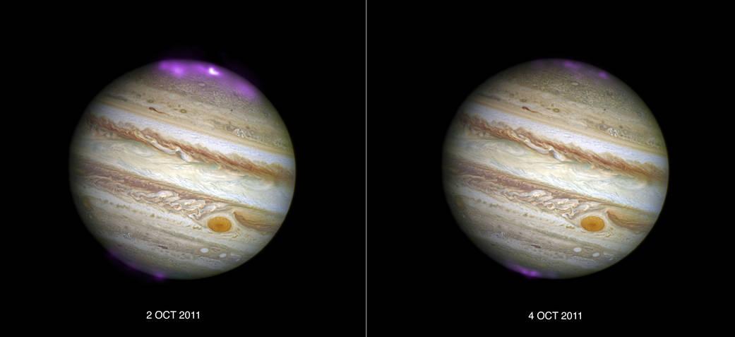 Solar Storms and Jupiter's DancingLights