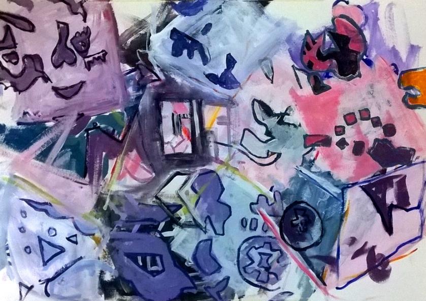 tesseract painting